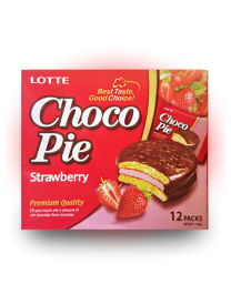 Печенье Lotte Сhoco Pie Strawberry 336 грамм