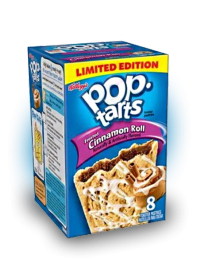 Печенье Pop Tarts 8 PS Frosted Cinnamon Roll 400 грамм