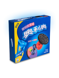 Печенье Oreo Colorful double fruity Sandwich with raspberry and blueberry 388 грамм