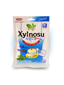 Леденцовая карамель XYLNOSU MILK MINT CANDY 68 грамм