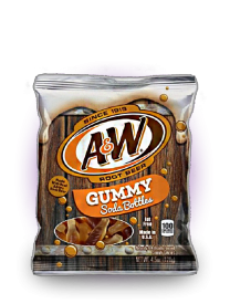 Мармелад A&W Root Beer Soda Bottle Gummies 128 грамм