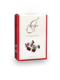 Шоколад Carletti Jakobsen Chocolate Strawberry Bag in box 140 грамм