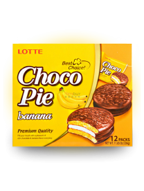 Печенье Lotte Сhoco Pie Banana 336 грамм