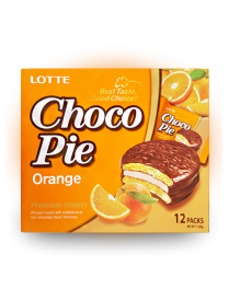 Печенье Lotte Сhoco Pie Orange 336 грамм