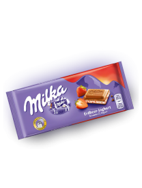 Молочный шоколад Milka Strawberry Yoghurt Chocolate 100 грамм