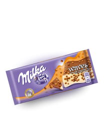 Шоколад Milka Waves Caramel 81 грамм