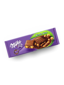 Молочный шоколад Milka Whole Nuts с цельным фундуком 250 грамм