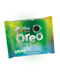 Печенье Oreo Trolls World Tour: Green Glitter Creme & Popping Candy 303 гр