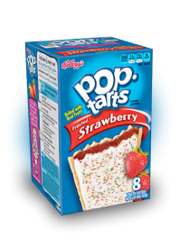 Печенье Pop Tarts 8 PS Frosted Strawberry с клубничной начинкой и глазурью 416 грамм