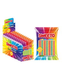 "Мармелад SWEETO ""MULTICOLOR STICKS"" (Супер кислые палочки Тутти-фрутти) 80 грамм"