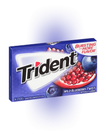 Жвачка Trident Wild Blueberry Twist